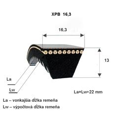 Klinový remeň XPB 1250 Lw Optibelt
